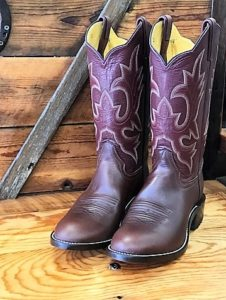 Our first pair of custom boots for dancin' the night away.