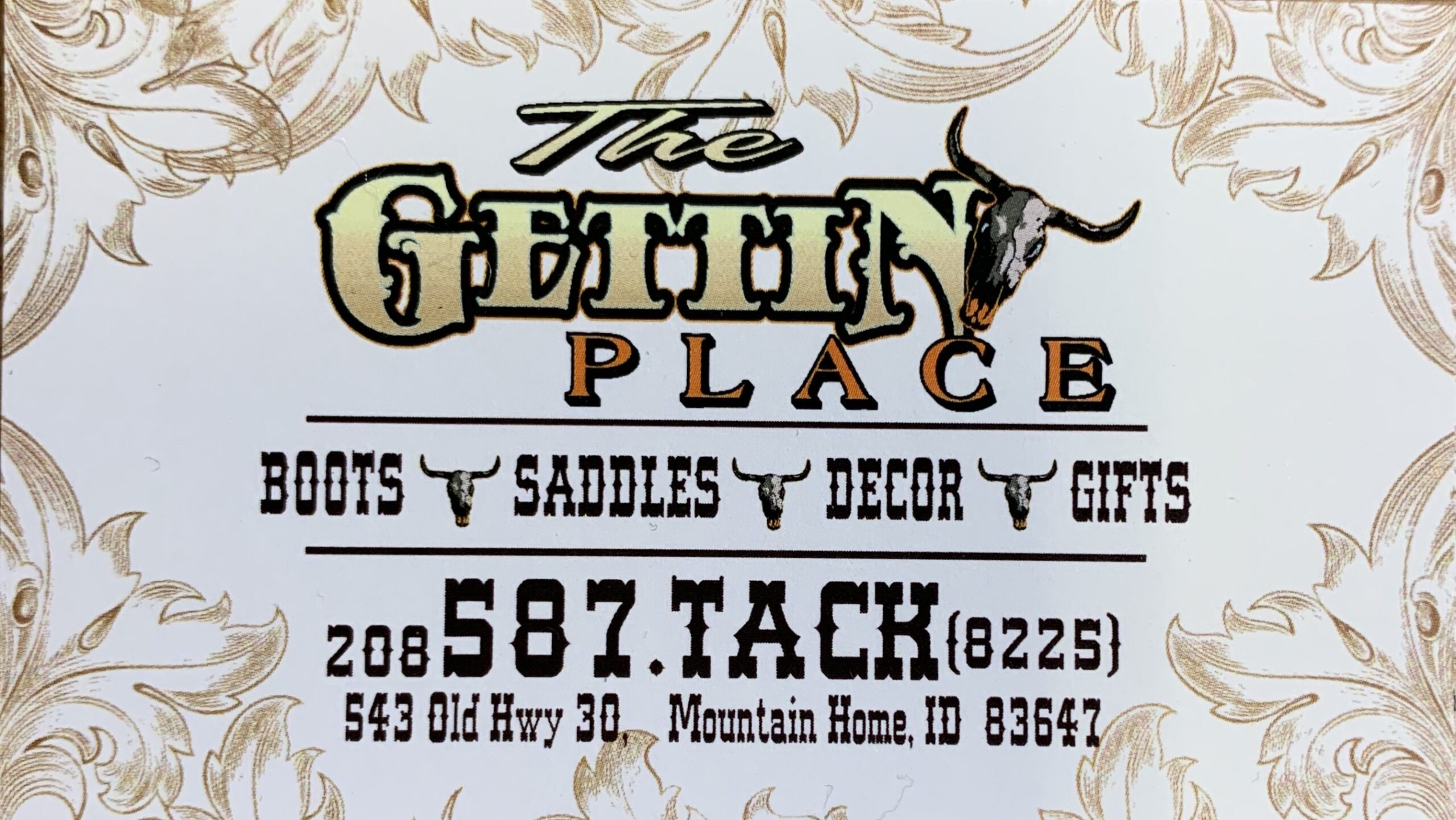 The Gettin Place business card